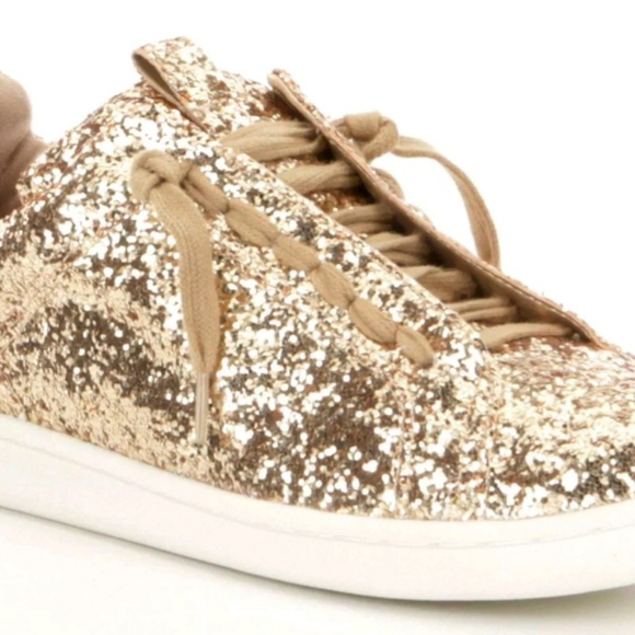 Gianni Binni Zora Glitter Gold Sneakers